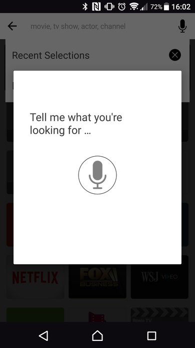 TCL app microphone for voice search