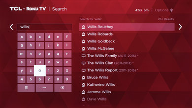 TCL search feature